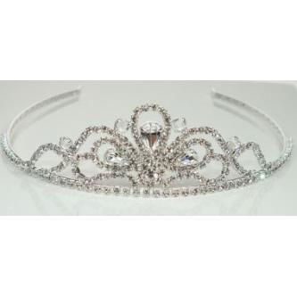 Svatební korunka, 5806-0061 - S00 - krystal - stříbro