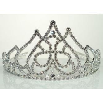 Svatební korunka, 5806-0068 - S00 - krystal - stříbro