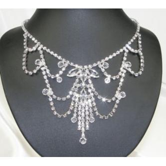 Svatební náhrdelník - 5801-0065 - S00 - Krystal - stříbro