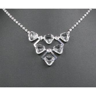 Svatební náhrdelník - 5801-0028 - S00 - Krystal - stříbro