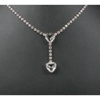 Svatební náhrdelník - 5801-0037 - S00 - Krystal - stříbro