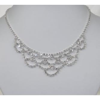 Svatební náhrdelník - 5801-0050 - S00 - Krystal - stříbro