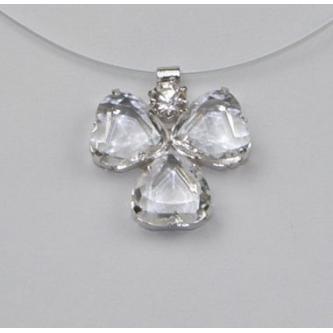 Svatební náhrdelník - 5801-0090 - S00 - Krystal - stříbro