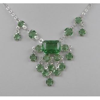 Svatební náhrdelník - 5801-0068 - S00 - Krystal - stříbro