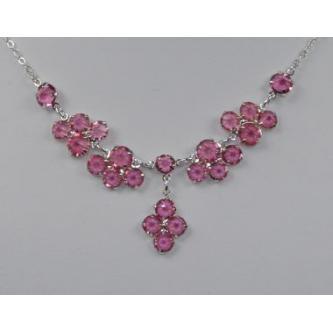 Svatební náhrdelník - 5801-0069 - S02 - Světlý safír - stříbro