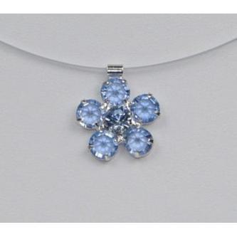 Svatební náhrdelník - 5801-0073 - S02 - Světlý safír - stříbro
