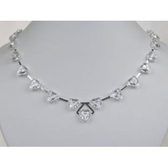Svatební náhrdelník - 6801-0128 - S00 - Krystal - stříbro
