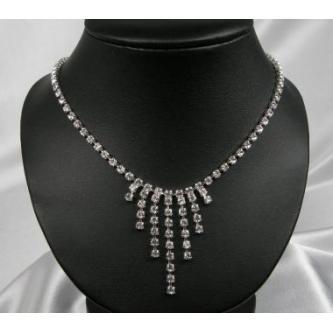 Svatební náhrdelník - 5801-0113 - S00 - krystal - stříbro