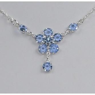Svatební náhrdelník - 5801-0126 - S00 - Krystal-stříbro