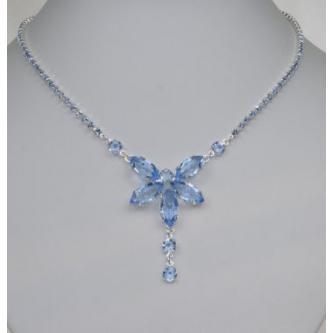 Svatební náhrdelník - 5801-0127 - S00 - Krystal - stříbro