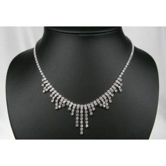 Svatební náhrdelník - 5801-0131 - S00 - Krystal-stříbro