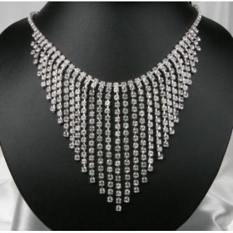 Svatební náhrdelník - 6801-0129 - S00 - krystal - stříbro