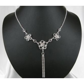 Svatební náhrdelník - 5801-0138 - S00 - Krystal - stříbro
