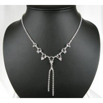 Svatební náhrdelník - 5801-0139 - S00 - Krystal - stříbtro