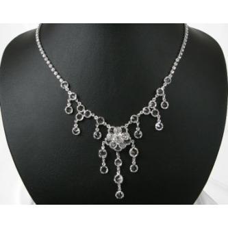 Svatební náhrdelník - 5801-0142 - S00 - Krystal - stříbro