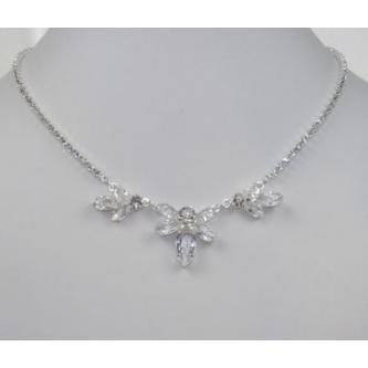 Svatební náhrdelník - 5801-0157 - S00 - Krystal - stříbro