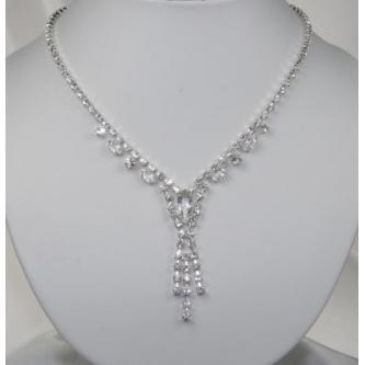 Svatební náhrdelník - 5801-0156 - S00 - Krystal - stříbro