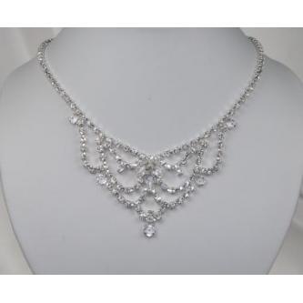 Svatební náhrdelník - 5801-0158 - S00 - Krystal - stříbro