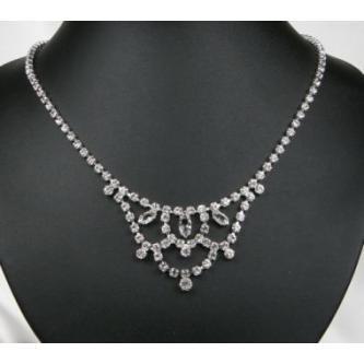 Svatební náhrdelník - 5801-0159 - S00 - Krystal - stříbro