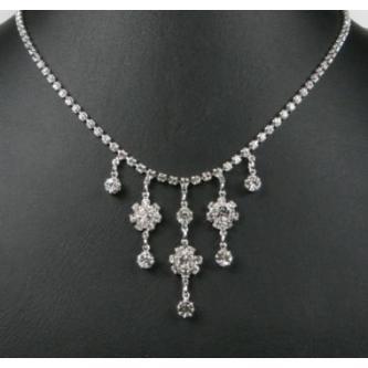 Svatební náhrdelník - 5801-0153 - S00 - Krystal - stříbro