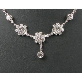 Svatební náhrdelník - 5801-0155 - S00 - Krystal - stříbro