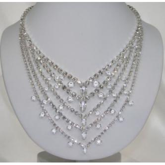 Svatební náhrdelník - 5801-0180 - S00 - krystal - stříbro