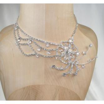 Svatební náhrdelník - 5801-0181 - S00 - krystal - stříbro