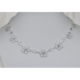 Svatební náhrdelník - 5801-0166 - S00 - Krystal - stříbro