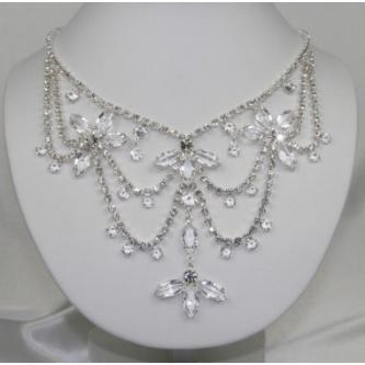 Svatební náhrdelník - 5801-0179 - S00 - krystal - stříbro