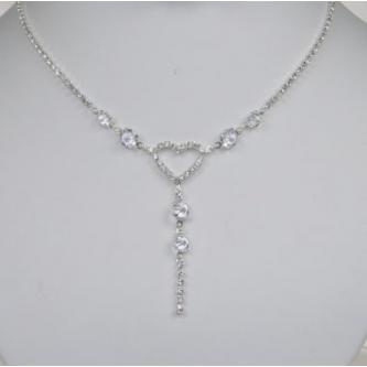 Svatební náhrdelník - 5801-0137 - S00 - Krystal - stříbro