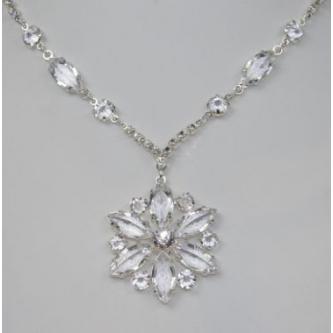 Svatební náhrdelník - 5801-0182 - S00 - krystal - stříbro