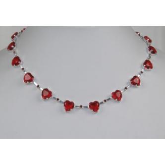 Svatební náhrdelník - 5801-0096 - S00 - Krystal - stříbro