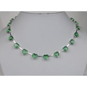 Svatební náhrdelník - 6801-0093 - S00 - Krystal - stříbro