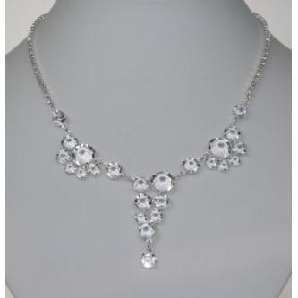 Svatební náhrdelník - 5801-0183 - S00 - Krystal - stříbro