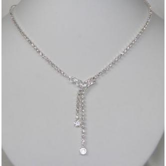 Svatební náhrdelník - 5801-0125 - C15 - Černá - černá