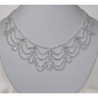 Svatební náhrdelník - 5801-0185 - S00 - Krystal - stříbro