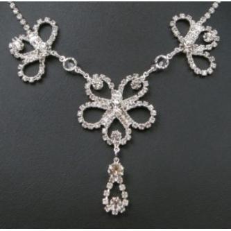 Svatební náhrdelník - 5801-0186 - S00 - Krystal - stříbro