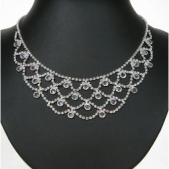 Svatební náhrdelník - 5801-0187 - S00 - Krystal - stříbro