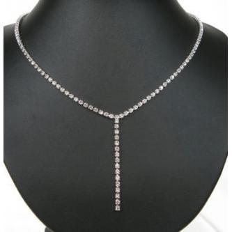 Svatební náhrdelník - 5801-0106 - S00 - Krystal-stříbro