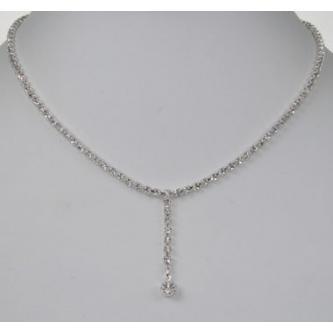 Svatební náhrdelník - 5801-0105FR - S00 - krystal - stříbro