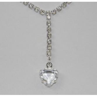 Svatební náhrdelník - 5801-0105SR - S00 - krystal - stříbro