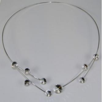 Svatební náhrdelník - 70593 - S00 - krystal