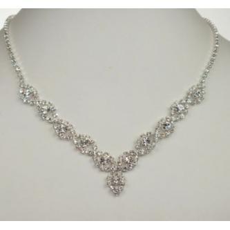 Svatební náhrdelník - 5801-0190 - Z00 - Krystal - zlato