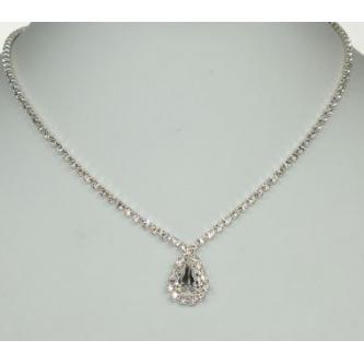 Svatební náhrdelník - 5801-0196 - S00 - Krystal - stříbro