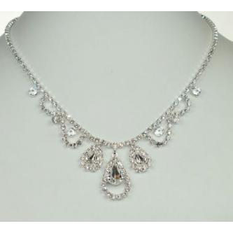 Svatební náhrdelník - 5801-0197 - S00 - Krystal - stříbro