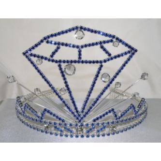 Korunky miss - 5806-0054D2 - S00 - Krystal - stříbro