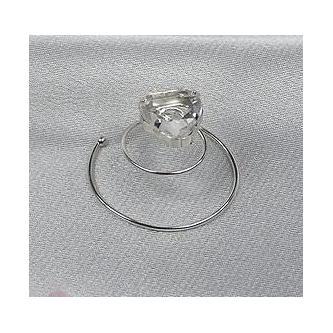 Spirála do vlasů bižuterie - 5805-0002-S001 - Krystal - stříbro