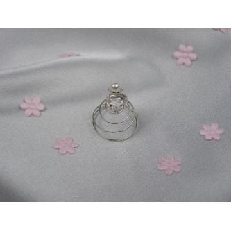 Spirála do vlasů bižuterie - 5805-0005-MS01 - Krystal, perla - stříbro