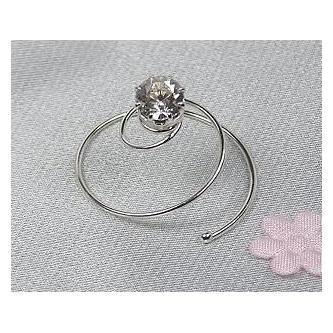 Spirála do vlasů bižuterie - 5805-0008-S00 - Krystal - stříbro
