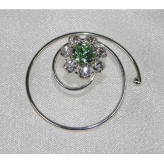 Spirála do vlasů bižuterie - 5805-0010 - S00 - Krystal - stříbro